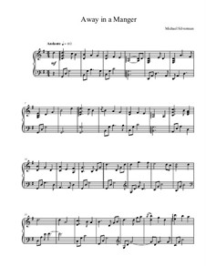 Away in a Manger: For piano by James R. Murray