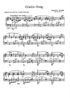 No.4 Cradle Song: For piano (G Major) by Johannes Brahms