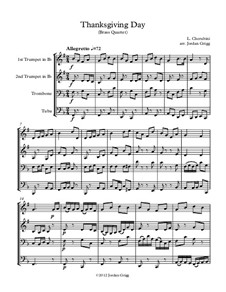 Thanksgiving Day: For brass quartet by Luigi Cherubini