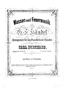 Suite No.1 in F Major, HWV 348: Arrangement for piano four hands by Georg Friedrich Händel