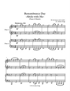 Abide with Me: For piano four hands by William Henry Monk