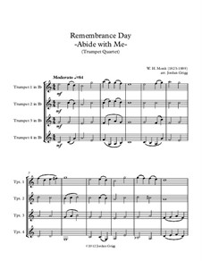 Abide with Me: For trumpet quartet by William Henry Monk