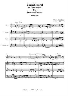 Varied Choral for oboe and string orchestra, CS123: Varied Choral for oboe and string orchestra by Santino Cara
