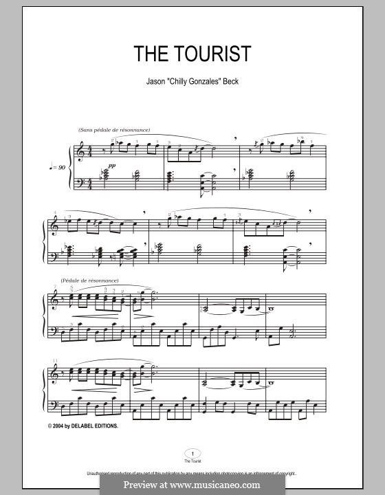 The Tourist: For piano by Chilly Gonzales