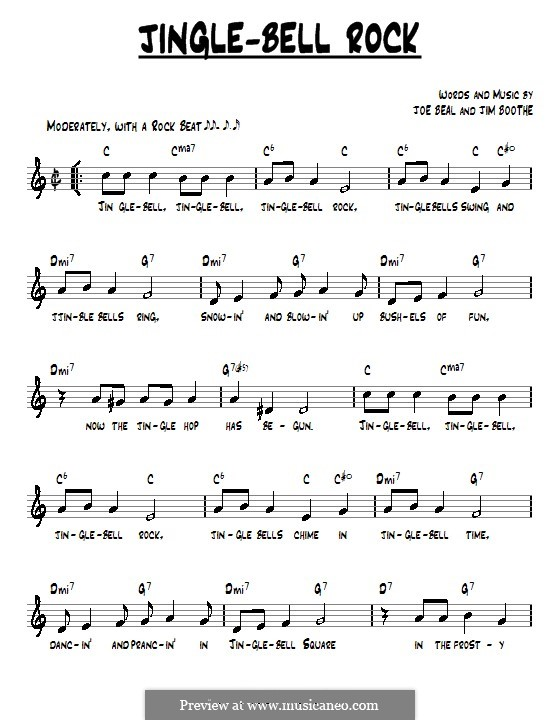 Violin violin tabs jingle bells : Jingle Bell Rock by J. Boothe, J. Beal - sheet music on MusicaNeo