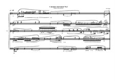 1 measure 'Etudes to the nocturnes' for piano: Movement No.1, MVWV 583 by Maurice Verheul
