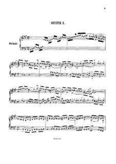 Suite No.1 in A Major, BWV 806: For harpsichord by Johann Sebastian Bach