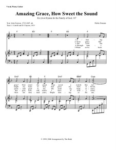 Amazing Grace: Piano-vocal score by folklore