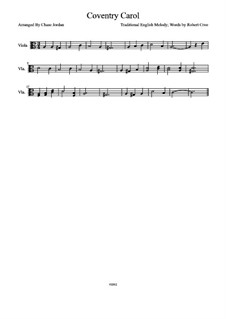 Coventry Carol: For viola by folklore