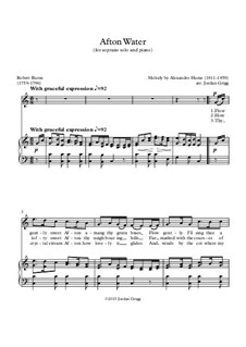 Afton Water: For soprano and piano by Alexander Hume
