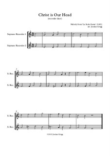 Christ is Our Head : For recorder duet by Unknown (works before 1850)