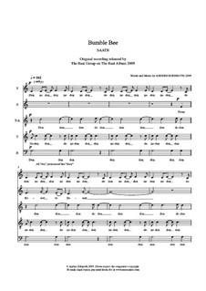 Bumble Bee: SAATB (original score) by Anders Edenroth
