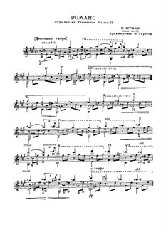 Eight Novelettes, Op.21: Novelette No.1. Fragment for guitar by Tárrega by Robert Schumann
