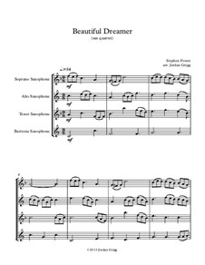 Beautiful Dreamer: For saxophone quartet by Stephen Collins Foster