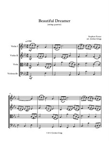 Beautiful Dreamer: For string quartet by Stephen Collins Foster