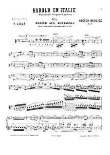 Harold en Italie, H.68 Op.16: Arrangement for viola and piano – solo part by Hector Berlioz