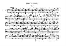 Six Pieces for Piano Four Hands, J.81-86 Op.10: Complete set by Carl Maria von Weber