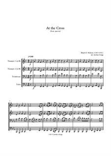 At the Cross: For brass quartet by Ralph E. Hudson