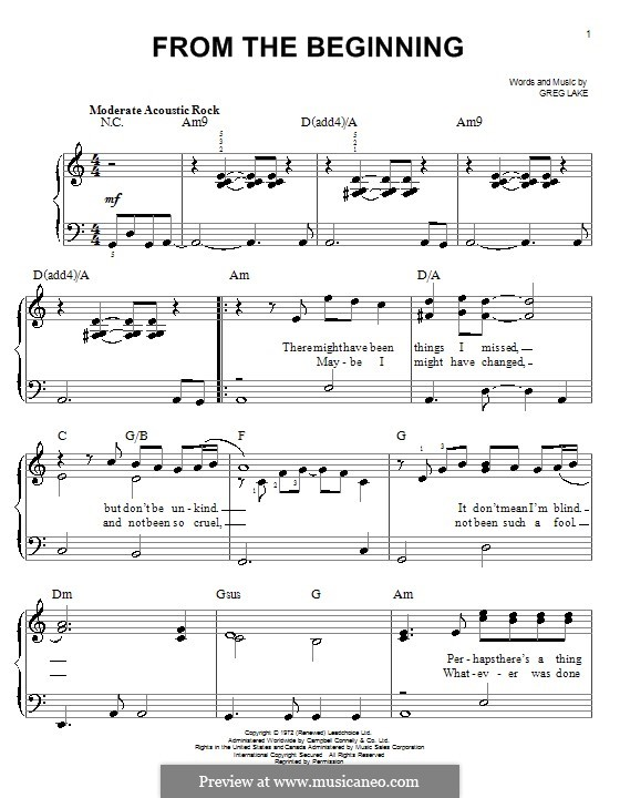 emerson lake and palmer sheet music pdf