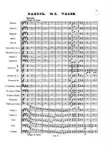 No.2 Waltz: Full score by Pyotr Tchaikovsky