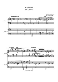 Kujawiak: For two pianos by Henryk Wieniawski