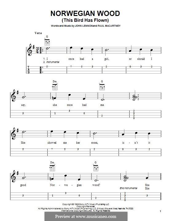 Norwegian Wood (This Bird Has Flown) by J. Lennon, P. McCartney on MusicaNeo