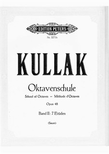 The School of Octave Playing, Op.48: Band II 7 Etüden by Theodor Kullak