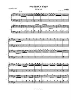 Prelude and Fugue No.3 in C Sharp Major, BWV 848: For accordion and bayan by Johann Sebastian Bach