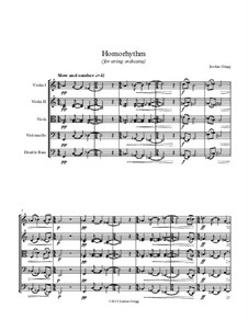 Homorhythm (for string orchestra): Homorhythm (for string orchestra) by Jordan Grigg
