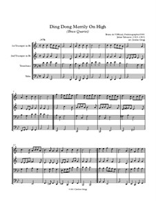 Ding Dong! Merrily on High: For brass quartet by folklore