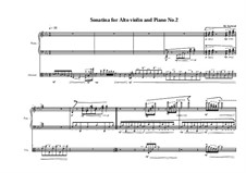 2 Sonatinas for Alto violin and piano: Sonatina No.2, MVWV 496 by Maurice Verheul