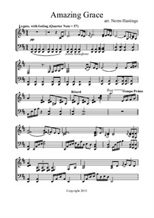 Amazing Grace: For piano by folklore