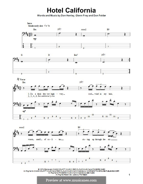 Guitar : guitar tabs hotel california Guitar Tabs Hotel or Guitar ...