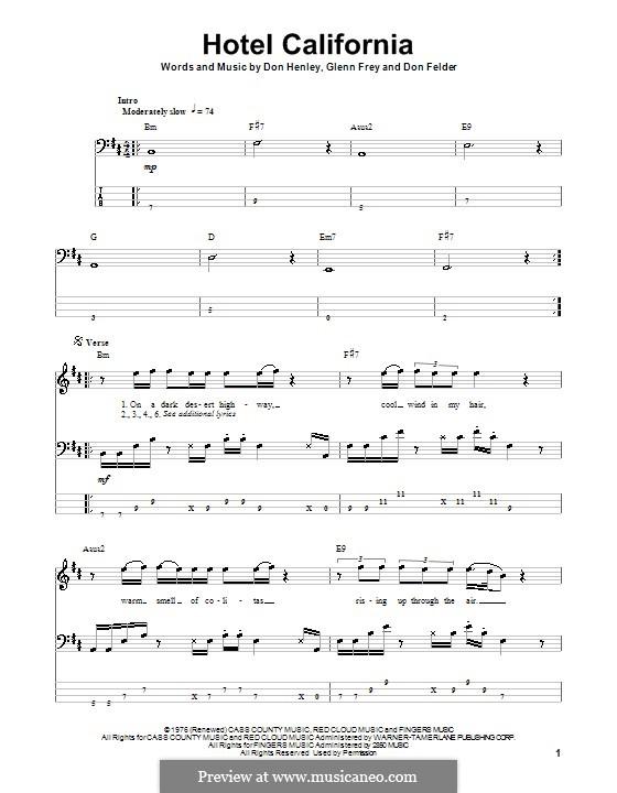 Ukulele hotel california ukulele chords : Hotel California (The Eagles) by D. Felder, D. Henley, G. Frey on ...
