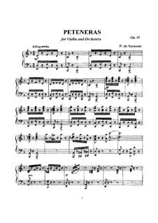 Peteneras, Op.35: Score by Pablo de Sarasate