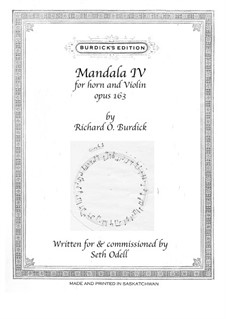 Mandala No.4 for horn and violin, Op.163: Mandala No.4 for horn and violin by Richard Burdick