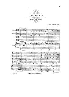 Ave Maria, Op.12: Full score by Johannes Brahms