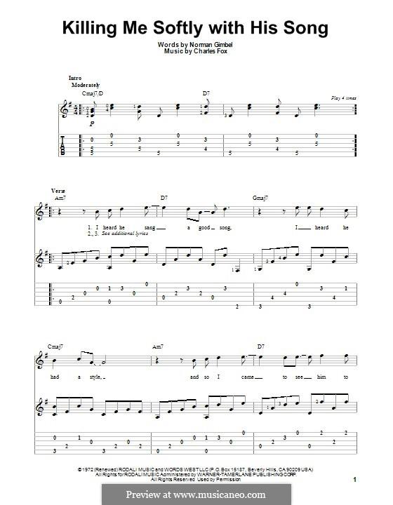 Killing me softly tabs ukulele