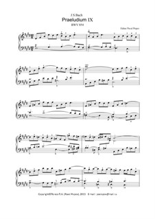 Prelude and Fugue No.9 in E Major, BWV 854: For keyboard by Johann Sebastian Bach