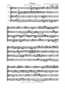 Prelude and Fugue No.22 in B Flat Minor, BWV 867: Prelude. Arrangement for choir by Pavel Popov (2000) by Johann Sebastian Bach