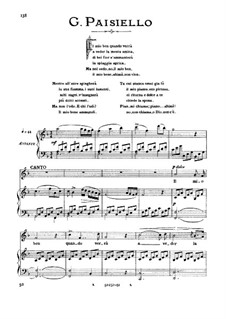 Il mio ben quando verra: High voice in F Major by Giovanni Paisiello