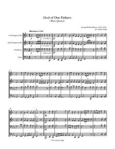 God of Our Fathers: For brass quartet by George William Warren