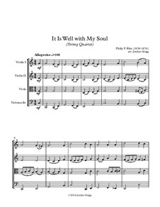 It Is Well with My Soul: For string quartet by Philip Paul Bliss