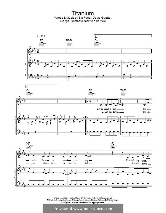 Titanium Chords Piano - Titanium (David Guetta) Guitar Chord Chart ...