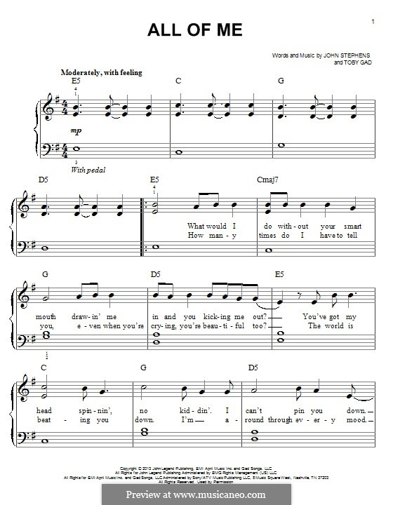 Piano u00bb Piano Tabs All Of Me John Legend - Music Sheets, Tablature, Chords and Lyrics