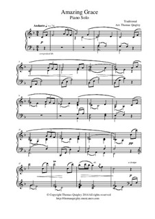 Amazing Grace: For piano solo by folklore