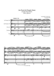 Au fond du temple saint: For brass quintet by Georges Bizet