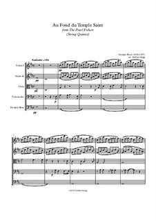 Au fond du temple saint: For string quintet by Georges Bizet