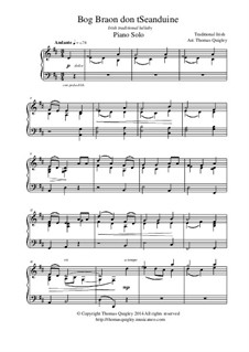 Bog Braon don't Seanduine: For solo piano by folklore