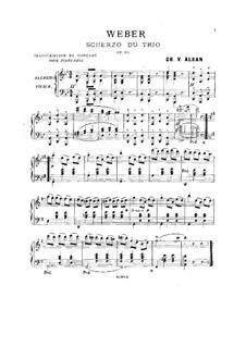 Trio for Flute, Cello and Piano, J.259 Op.63: Scherzo. Version for piano by Carl Maria von Weber